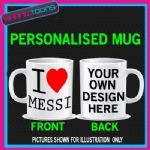 I LOVE HEART MESSI BARCELONA FOOTBALL MUG